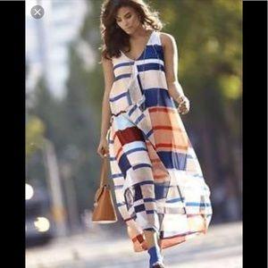 Lane Bryant nautical maxi dress